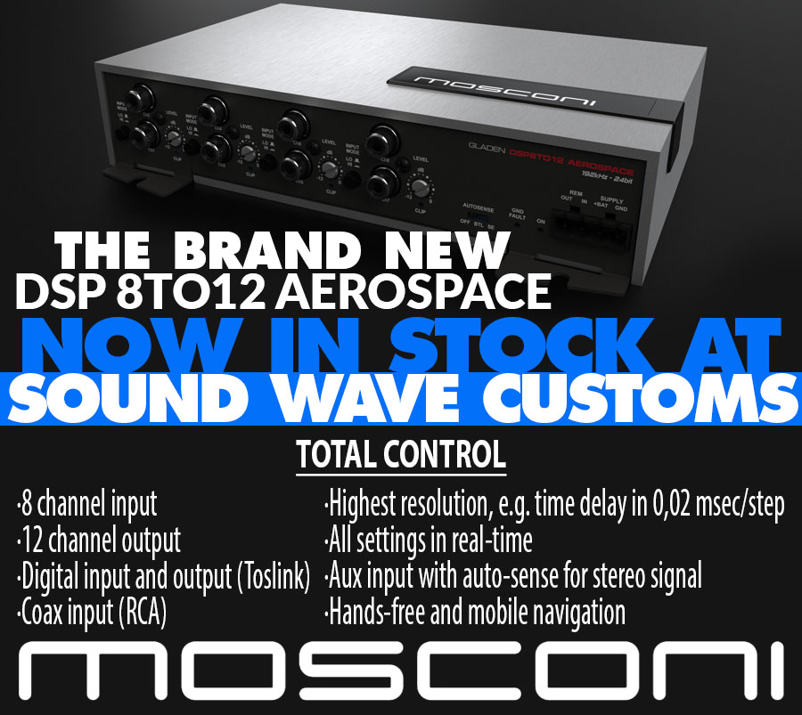Mosconi Gladen DSP 8to12 Aerospace - Sound Wave Customs